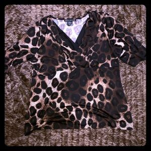 Cheetah print blouse XL